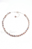 Ожерелье из муранского стекла Арлекино классическое серебристое