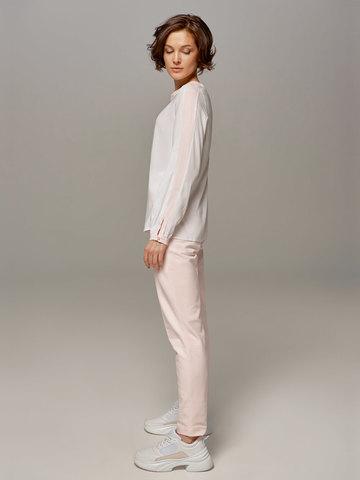 Женская молочно-розовая блузка LE TRICOT - фото 4