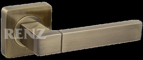 Фурнитура - Ручка Дверная  Renz Милан, цвет бронза античная  (гарантия - 12 месяцев)