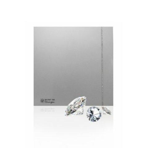 Вентилятор накладной S&P Silent 100 CRZ Design Swarovski Silver (таймер)
