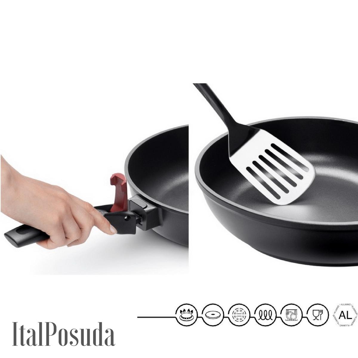 Сковорода со съемной ручкой NADOBA VILMA, 24 см