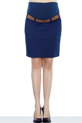 Юбка для беременных 07544 синий