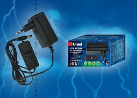 UET-VPA-024A20 Блок питания для светодиодов с вилкой, 24 Вт, 12В, IP20