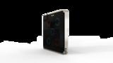 Выключатель пятиканальный Heltun (Чёрная панель, Серебристая рамка)