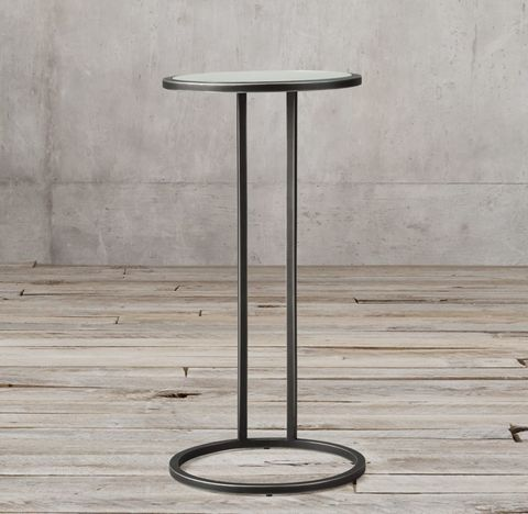 Strand Mirrored Round Cocktail Side Table