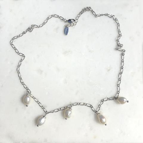Колье Палана, серебряный цвет