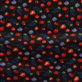 Плательно-блузочный шелк пыльного темно-пурпурного цвета с ягодным мотивом