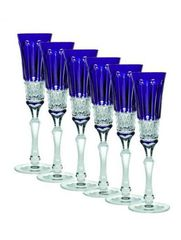 Фужер для шампанского 120мл Ajka Crystal St. Louis синий