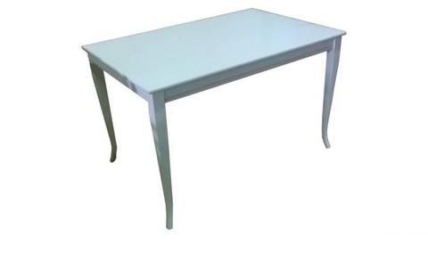 Стол обеденный Кремона-5 прямоугольный деревянный белый