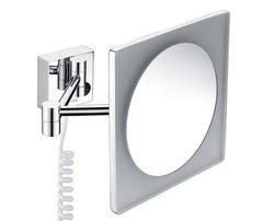 Косметическое зеркало WasserKRAFT K-1008 с LED-подсветкой, с 3-х кратным увеличением