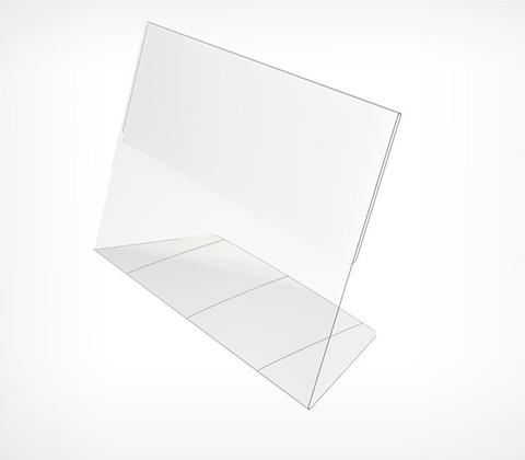 Подставка из ПВХ,  PVC-PRICER-A7  L-образная, горизонтальная