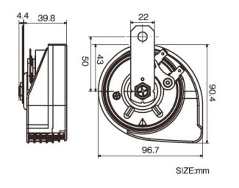 Турбинный звуковой сигнал PIAA Sport Horn HO-12 (ультратонкие)