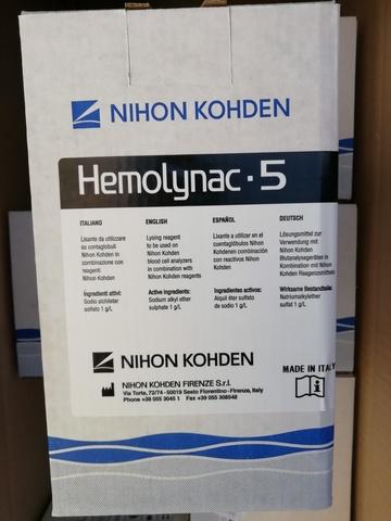 Лизирующий реагент Хемолинак 5 (Hemolynac-5 MEK 910 I), 1л - Nihon Kohden Firenze S.r.l., Италия (арт.MEK-910I)