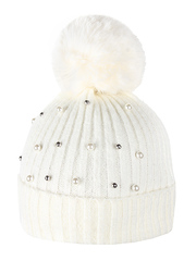 HT1811-2 шапка женская, белая