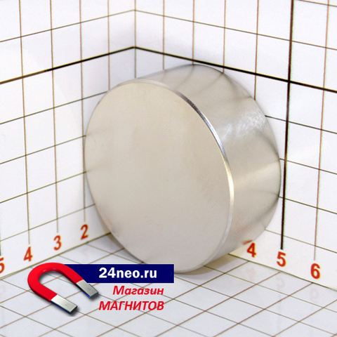 Неодимовый магнит диск 50х20 мм
