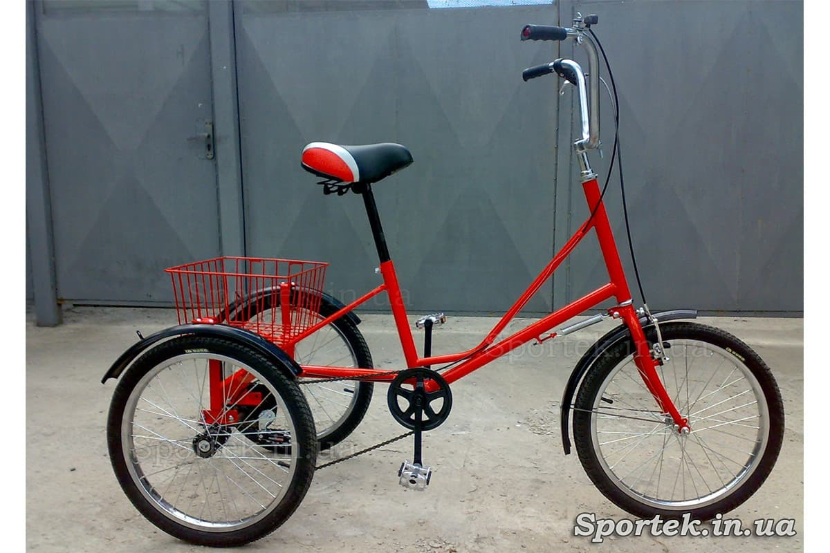 Трехколесный велосипед 'Городской с корзинкой 20' (красный)