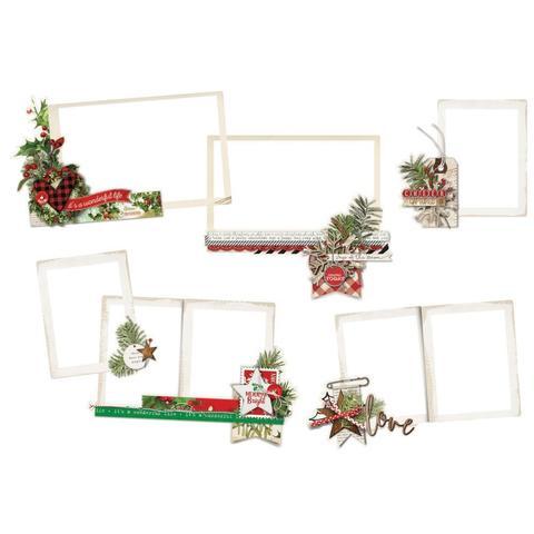 Чипборд фоторамки  Simple Vintage Christmas - 6 шт.