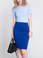 GKT006439 блузка женская, синяя