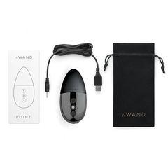 Чёрный утяжеленный премиум-вибратор Le Wand Point