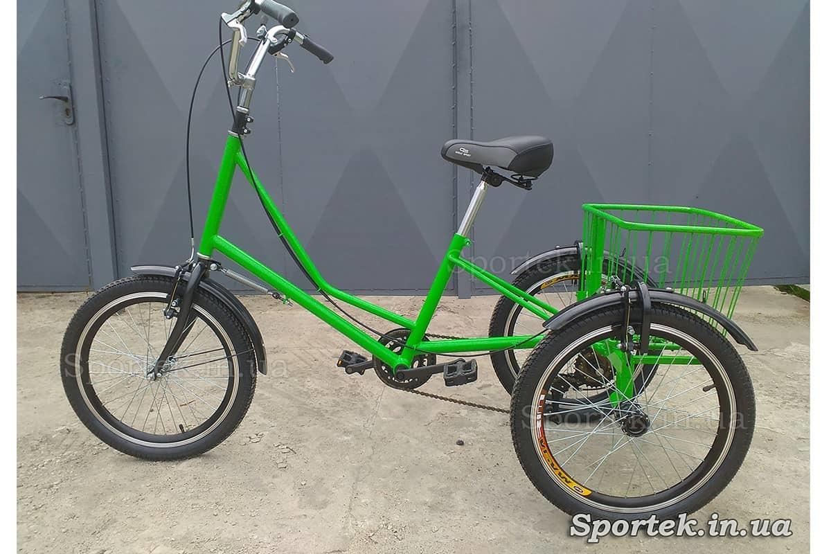 Трехколесный велосипед 'Городской с корзинкой 20' (зеленый)