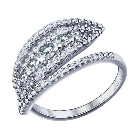 Кольцо из серебра с фианитами от SOKOLOV арт.94011435
