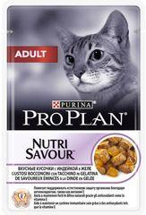 Влажный корм, Purina Pro Plan ADULT, для взрослых кошек, с индейкой
