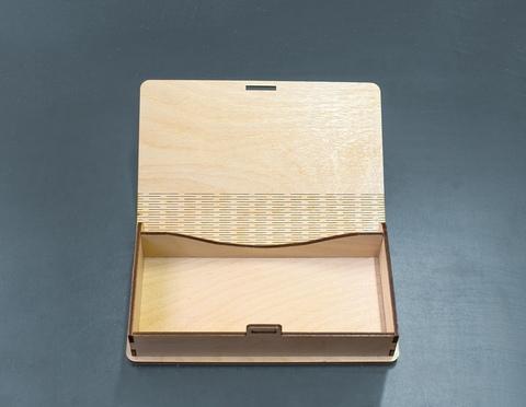Купюрница из дерева с фотогравировкой