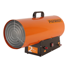 Калорифер газовый PATRIOT GS 50, 50 кВт, 872 мᵌ/ч, пьезо поджиг, редуктор, шланг.