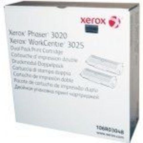 Двойная упаковка тонер-картриджа Xerox 106R03048 для Xerox Phaser 3020/WC3025. Ресурс 2х1500 стр.