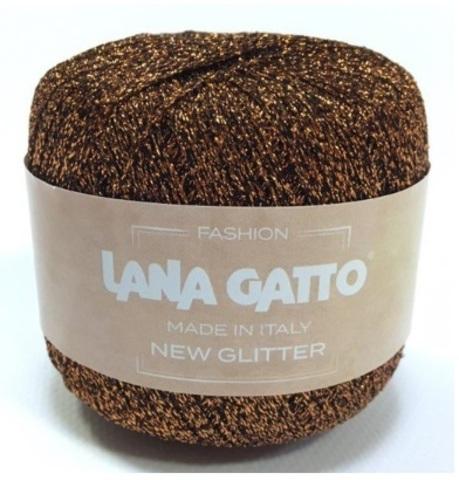 Пряжа Lana Gatto New Glitter 8456 медный