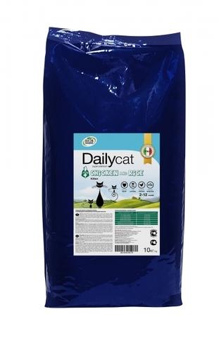 Dailycat Kitten Chicken and Rice сухой корм для котят и беременных или кормящих взрослых кошек с курицей и рисом 10 кг