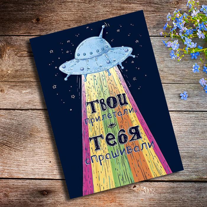 ТВОИ ПРИЛЕТАЛИ ТЕБЯ СПРАШИВАЛИ Купить оригинальную открытку в Перми