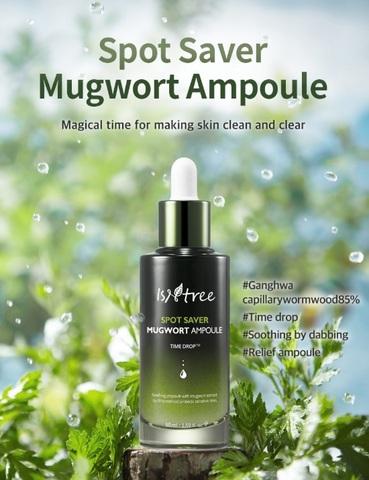 Эссенция с экстрактом полыни для чувствительной/проблемной кожи, 50 мл / Isntree Spot Saver Mugwort Ampoule