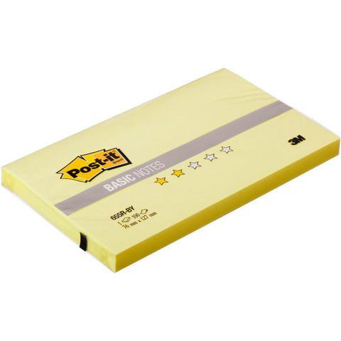Стикеры Post-it Basic 655R-BY, канареечный желт 76х127 мм 100 л.