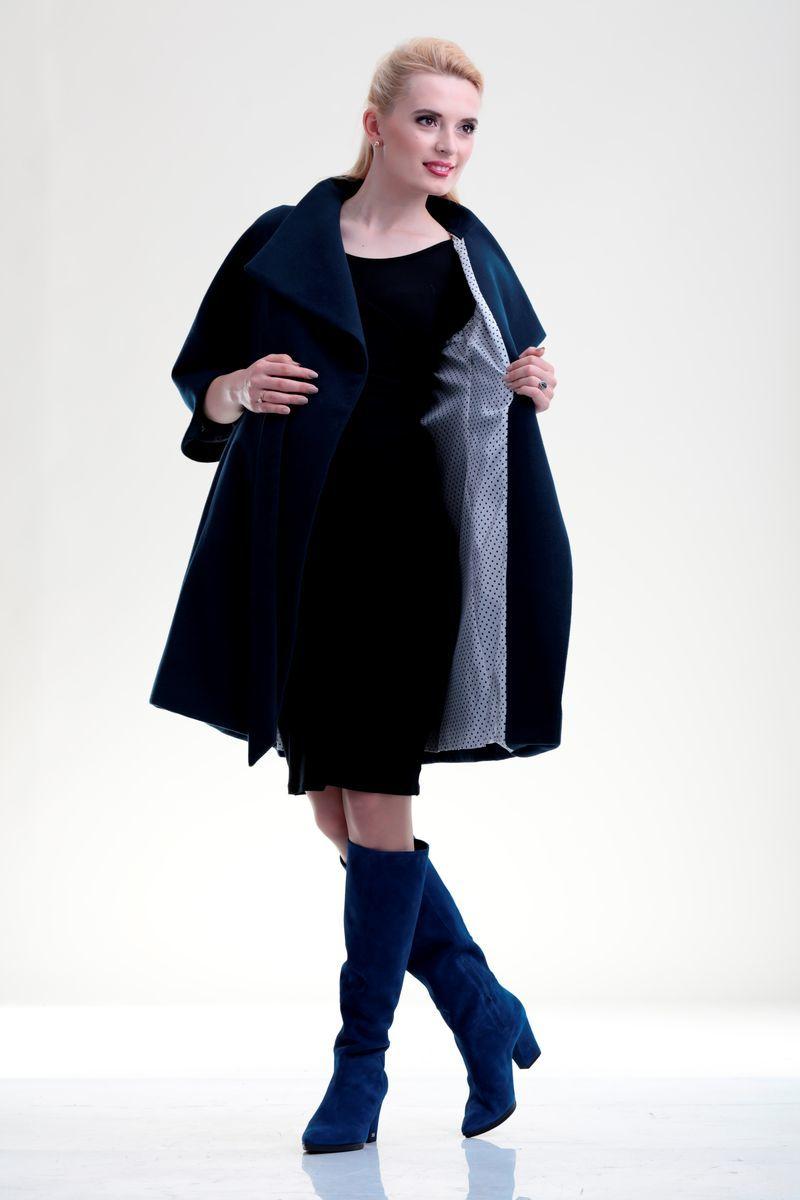 Пальто 07702 синий