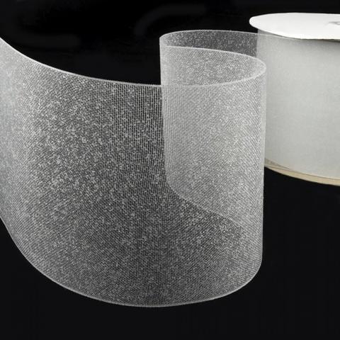 Люверсная лента термоклеевая прозрачная 100 мм. Арт. SLL/10