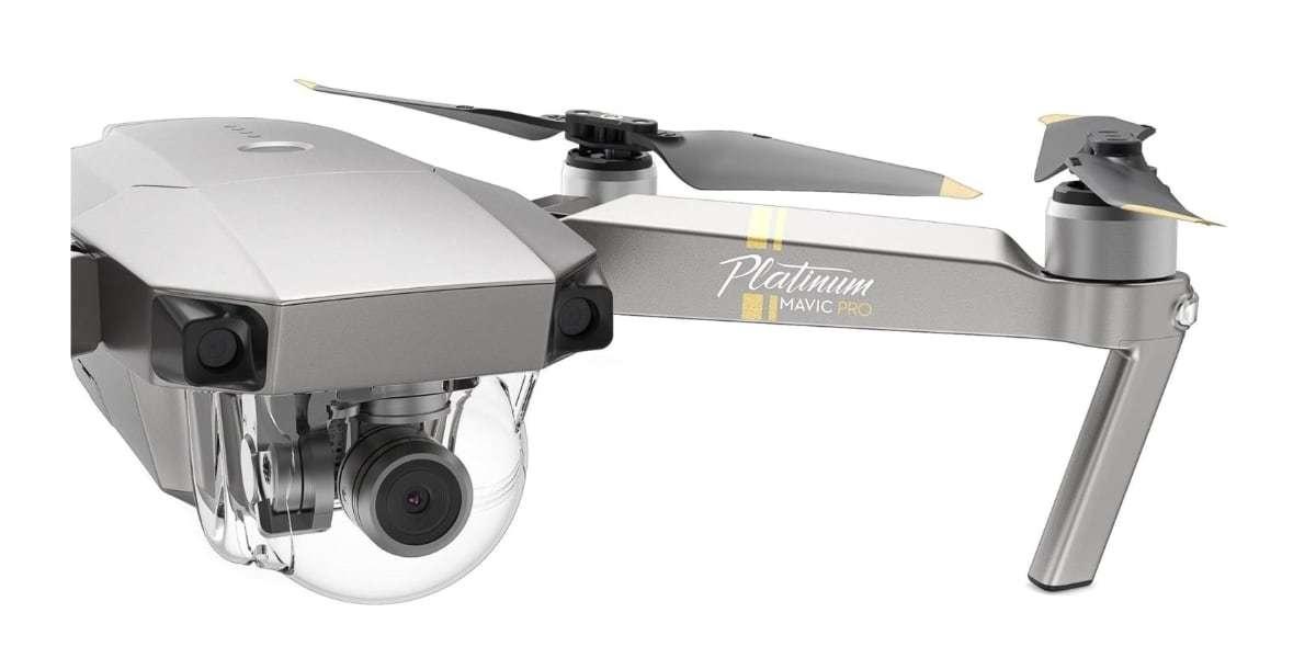 Квадрокоптер DJI Mavic Pro Platinum Fly more Combo крупно
