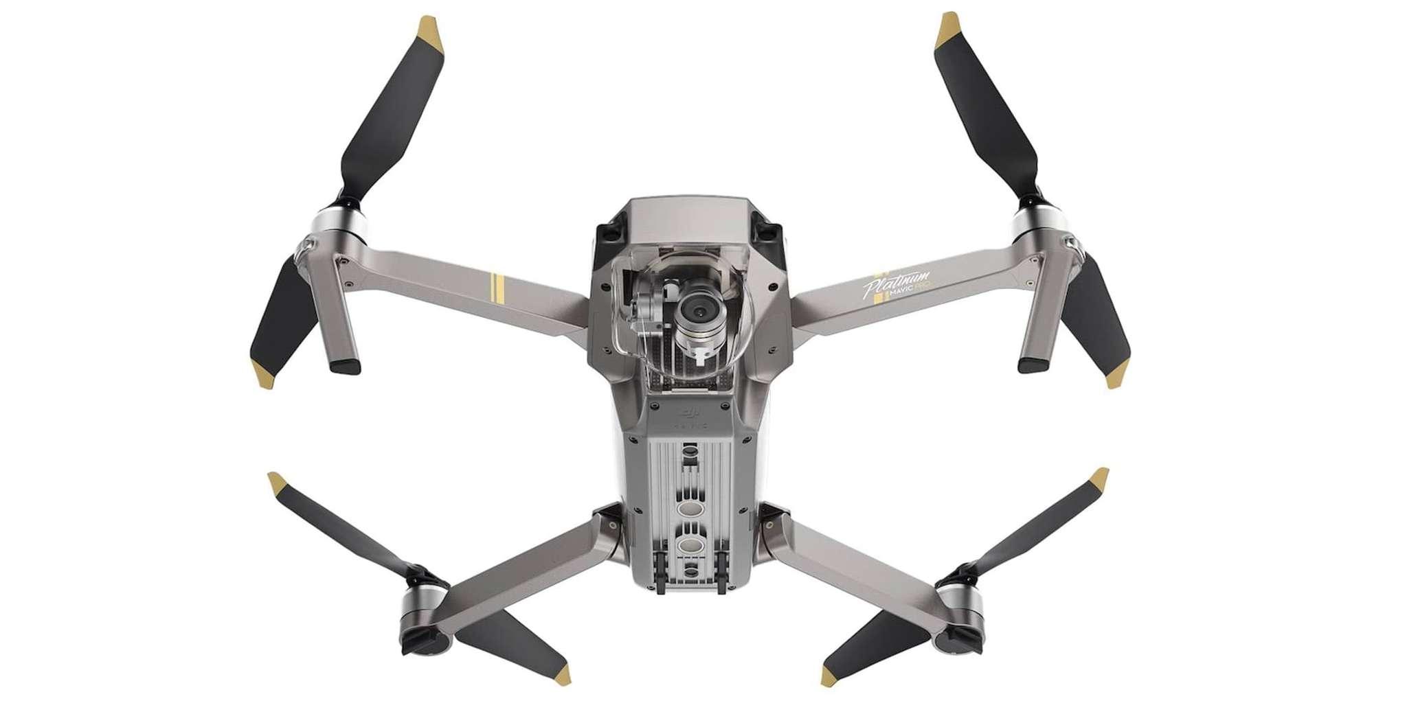 Квадрокоптер DJI Mavic Pro Platinum Fly more Combo вид снизу