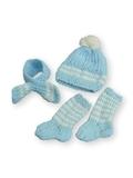 Вязаный комплект - Голубой. Одежда для кукол, пупсов и мягких игрушек.