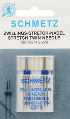 Фото: Игла Twin stretch 130/705 H-S ZWI DMS №2x2.5/75