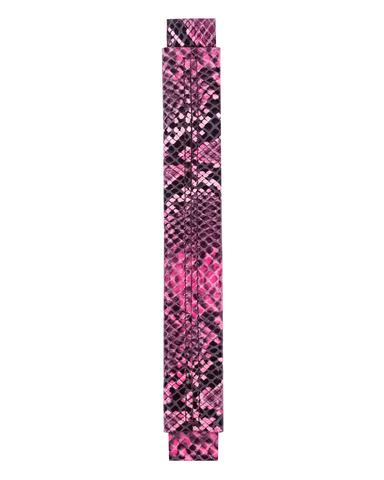 Сменная ручка из черно - розовой кожи с принтом питона
