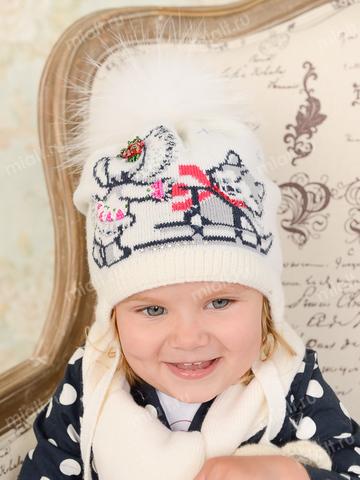 Зимняя шапка и шарф для девочки Mialt Якуточка