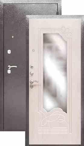 Сейф-дверь входная Аргус Стиль ДА- 8, 2 замка, 2 мм  металл, (серебро антик+беленый дуб)