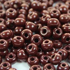 Бисер 5/0 Preciosa непрозрачный, бордово-коричневый