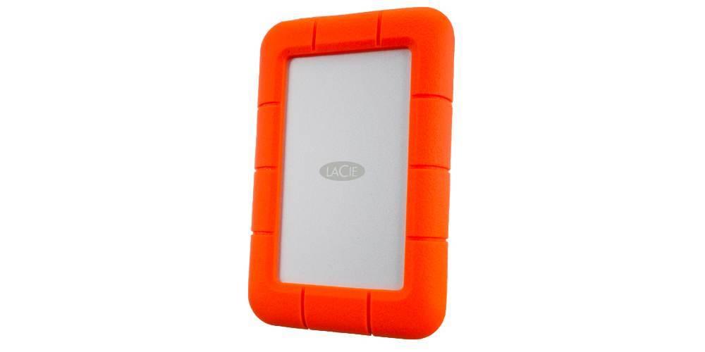 """LaCie Rugged Mini USB-C 2,5"""" 1TB вид сбоку"""