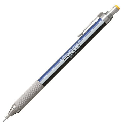 Механический карандаш 0,3 мм Tombow Mono Graph Zero (сине-бело-черный)