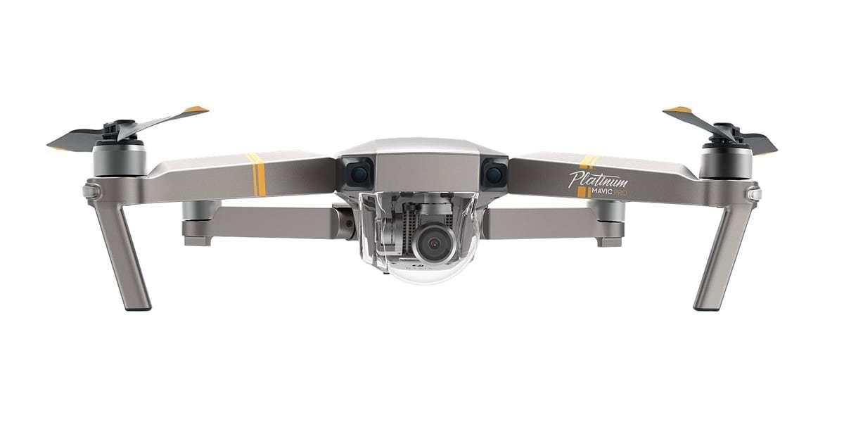 Квадрокоптер DJI Mavic Pro Platinum Fly more Combo вид спереди