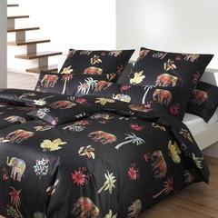 Постельное белье 1.5 спальное Elegante Delhi черное