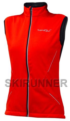 Женский лыжный жилет Nordski Premium Red