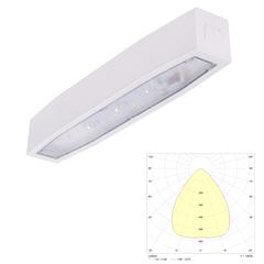 Накладной аварийный светодиодный светильник для высоких помещений Suprema LED SOH NT IP54 Intelight